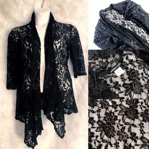 Double Take Rose Lace Cardigan 2X